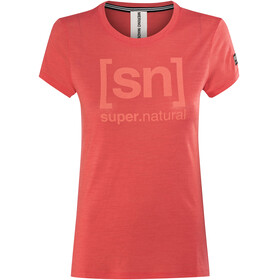 super.natural Essential I.D. - T-shirt manches courtes Femme - rouge